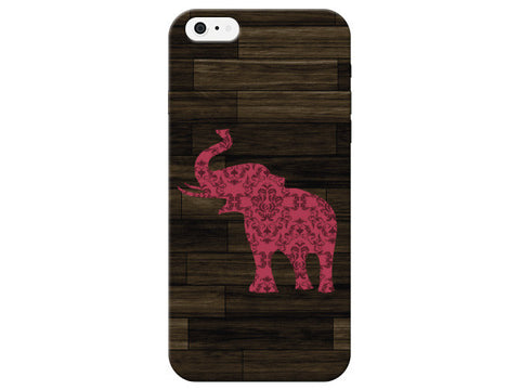 Wood Background Bright Elephant Phone Case