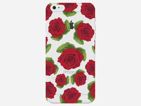 Big Rose Flower Clear Phone Cover