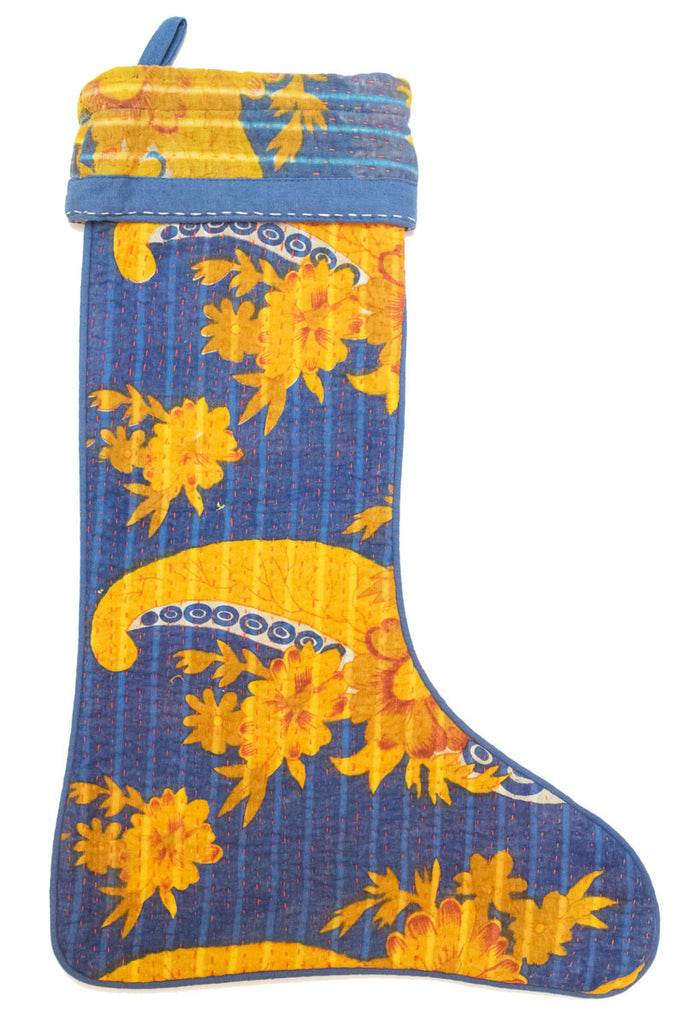 Vintage Kantha Holiday Stocking