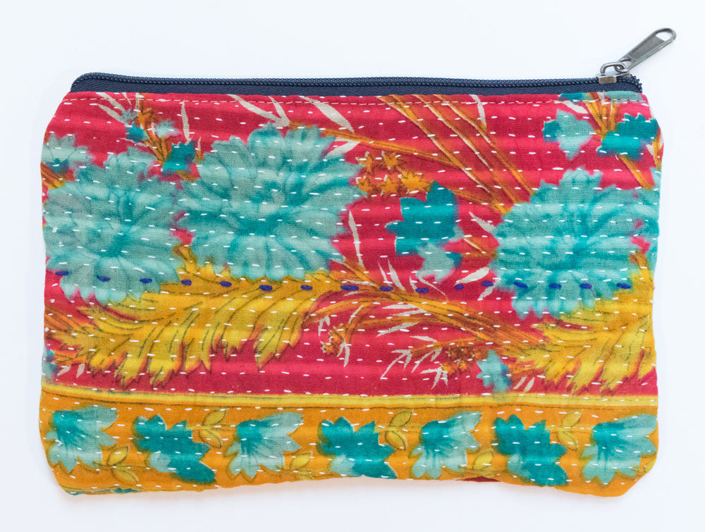 Indian Kantha Pouch | Worldwide Textiles
