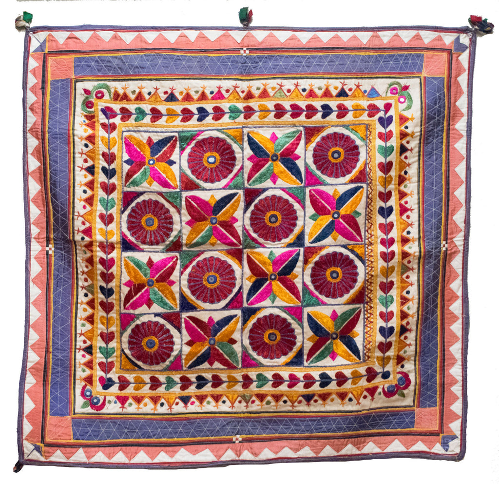 Vintage Indian Wall Hanging | Worldwide Textiles