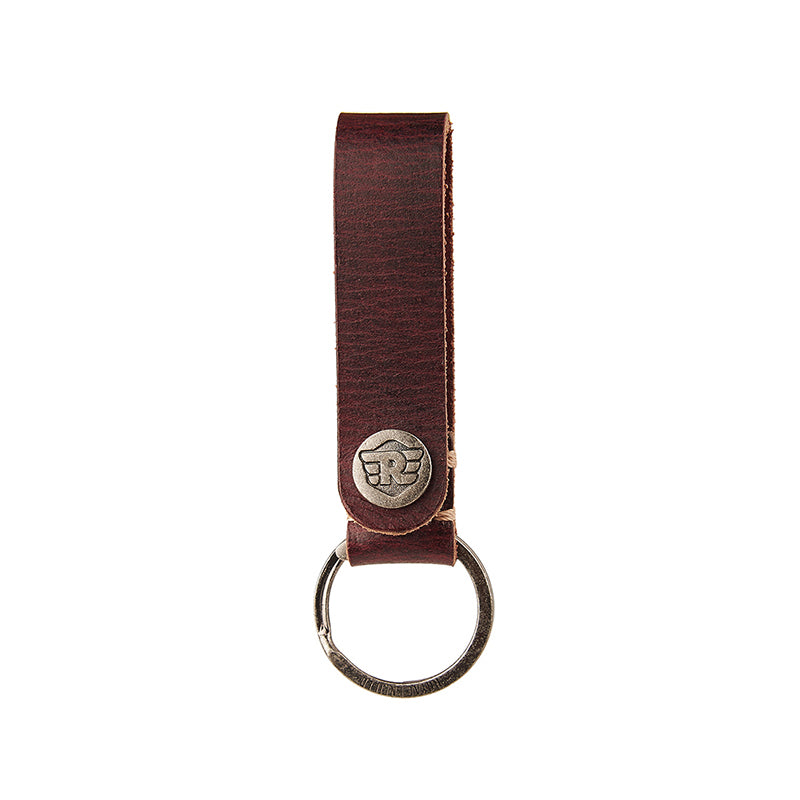 Belt Loop Leather Keychain Wine Red