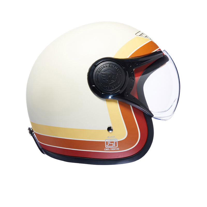Border Stripes Helmet Matt White