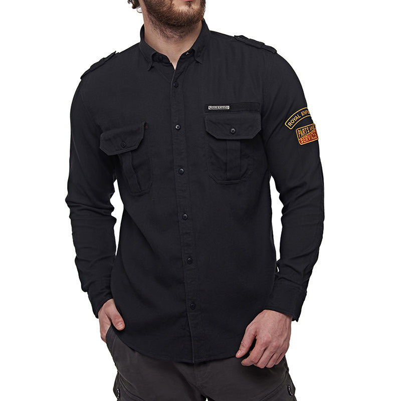 Parts And Services Hexaweave Shirt Charcoal Black