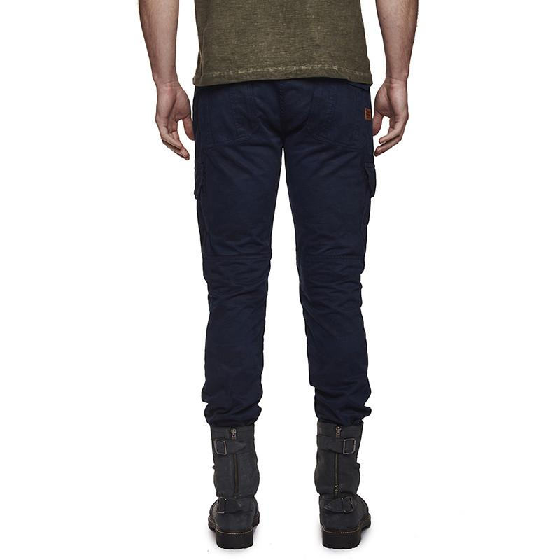 Re Camouflage Cargo Navy Blue