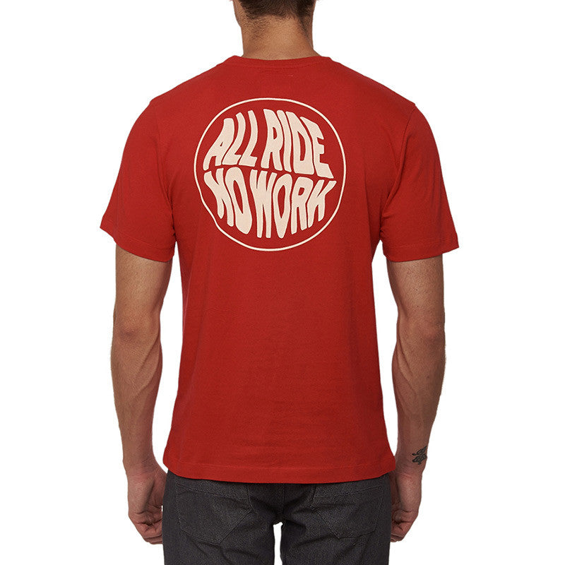 Happy Socks All Ride Tee Red - Royal Enfield