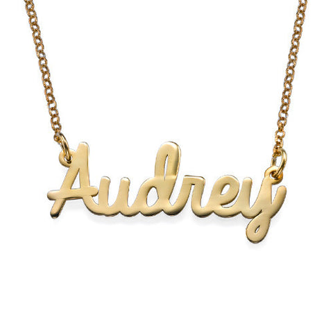 Cursive Name Necklace gold