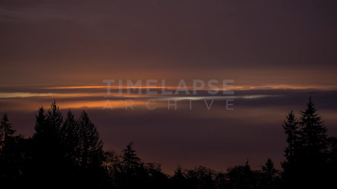 Time-lapse Vancouver: 4AM Mountain Fog