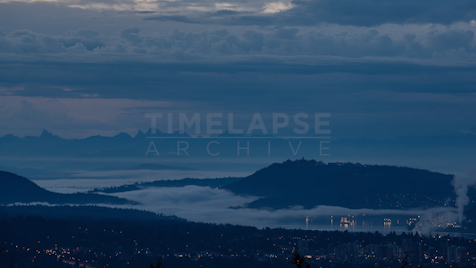 Time-lapse Vancouver: Mountains And Fog