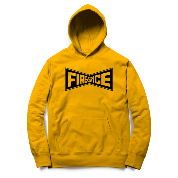 Fire & Ice - Champion Hoodie (Yellow) - Shop Shogun