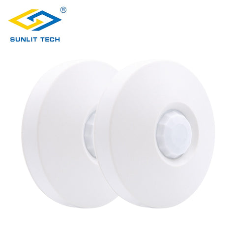2pcs 433MHz Indoor Infrared PIR Motion Sensor 360 Degree Ceiling Mounting Pet Immunity Detector Alarm System For Home Security