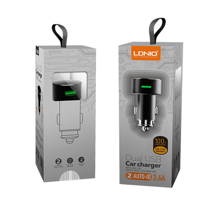 LDNIO Dual USB Car Charger 3.6A