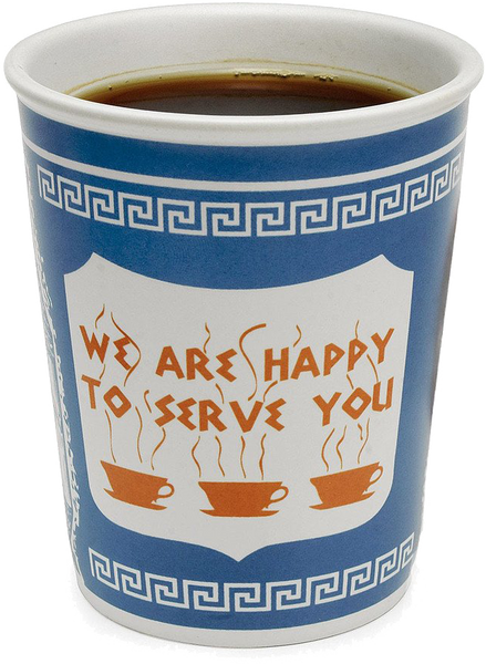 "10oz ""We Are Happy To Serve You"" Ceramic Cup"