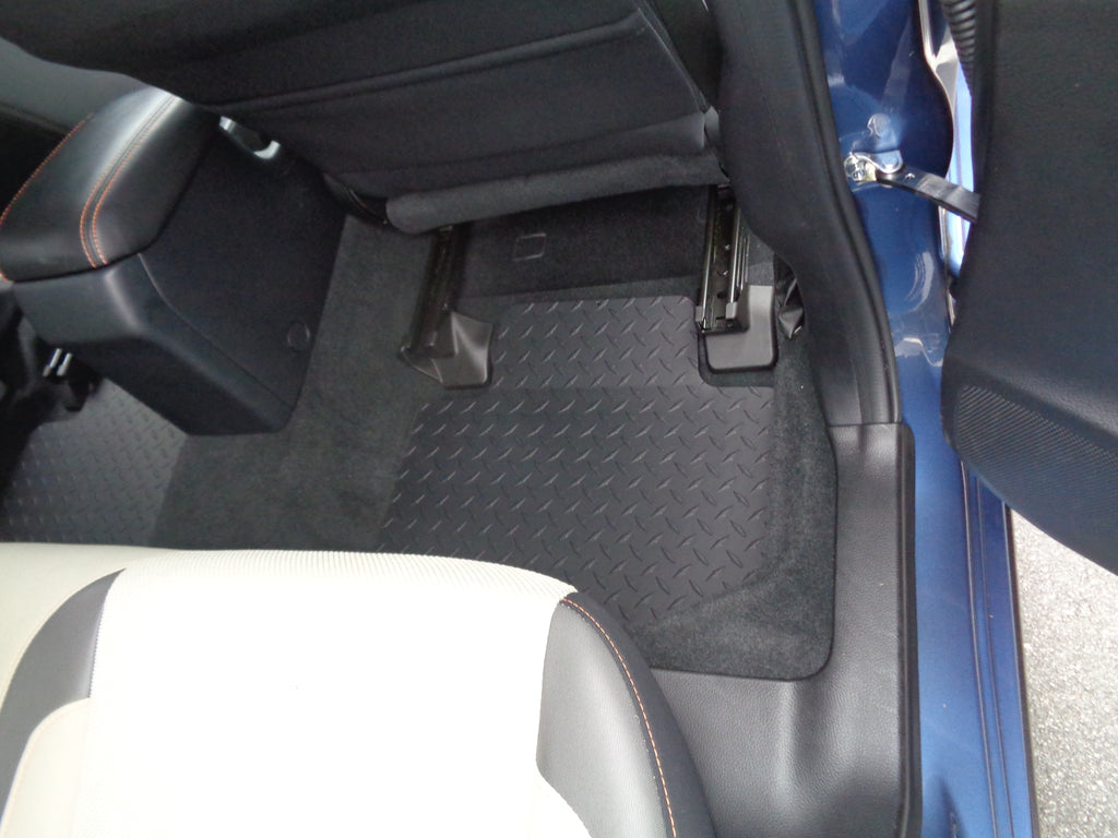 Forester 14-19 Black METAL diamond floor mats front rear