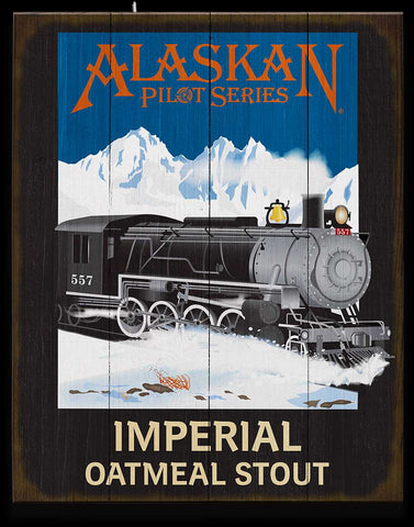 Imperial Oatmeal Stout Wooden Sign