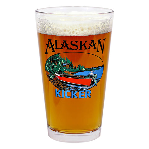 16oz Kicker IPA pint glass