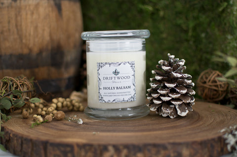 """Holly Balsam"" Organic Soy Candle"