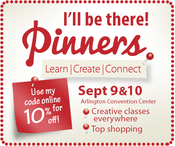Texas Pinners Conference is Sept 9-10, 2016 - Coupon Codes - Personalized Gallery Booth E6