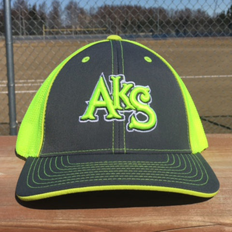 AkS Original hat in Graphite & Neon Yellow