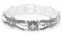 202N - With God all things are possible, stretch bracelet