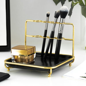 Homlly Marbi Gold Rim Jewellery Beauty Stand - Homlly