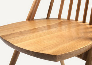 Brown Enkel Oak Chair - Homlly