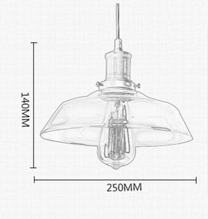 Kymen Glass Ceiling Hanging Lamp (2m)
