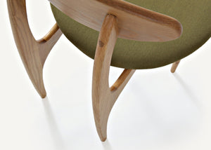 Damien Oak Wood Chair - Homlly