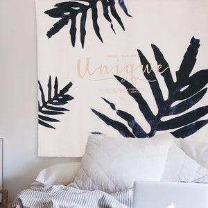Monochrome Tapestry Wall Hanging Throw Cloth