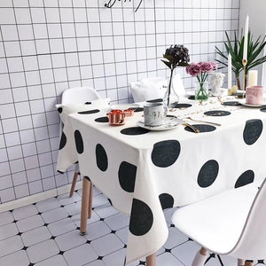 Homlly Chic life Polka Dot Table Cover Cloth  (4 Sizes) - Homlly