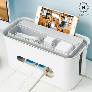 Homlly Cable box with top storage compartment - Homlly