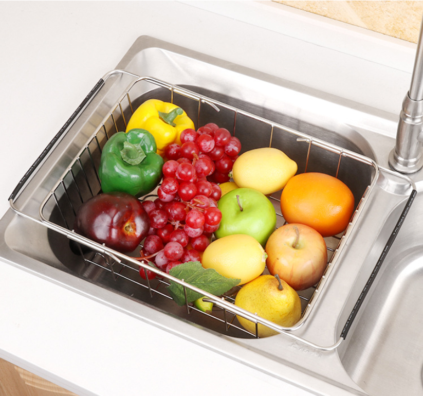 Homlly Expandable Stainless Steel Sink Dish Drainer - Homlly