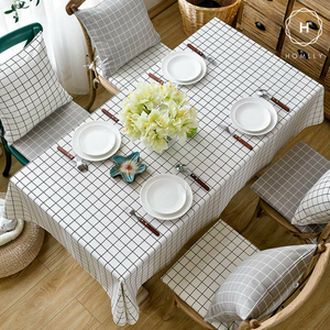 Homlly Checked Table Cover Cloth - Homlly