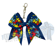 autism awareness key chain autism acceptance key chain bow royal blue