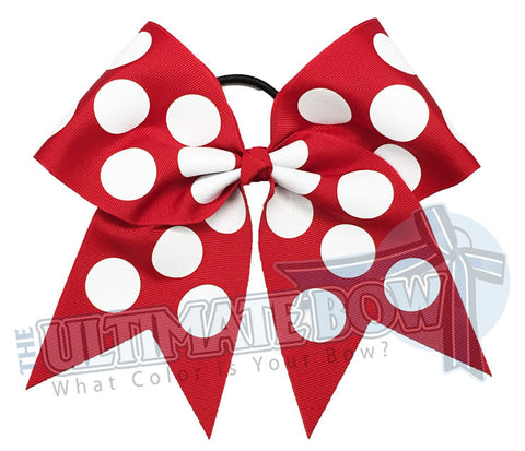 Big Glitter Polka Dots - Cheer Bow
