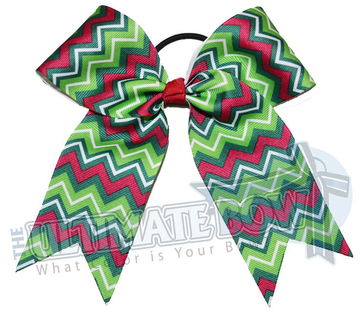 Christmas-Chevron-trendy-gift-cheer-bow