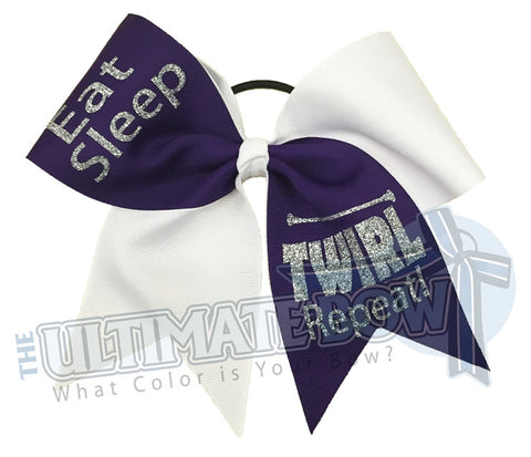 Eat Sleep TWIRL Repeat Twirling Bow