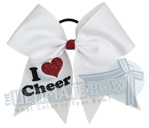 I Heart Cheer | Cheer Bow | Cheerleading Hair Bow