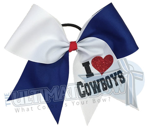 I Love My Mascot Cheer Bow | Softball Hair Bow
