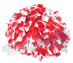 Cheerleader Poms | Pom Poms | Football Poms | Red and White Pom Poms | Cheer Poms | Pom Pons