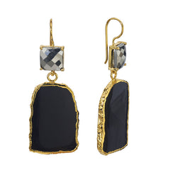 Black Colosseo Slab Earrings