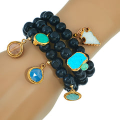 Navona Black wood Bracelet set