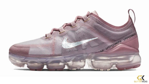 Women's Nike Air VaporMax 2019 + Crystals - Plum Dust