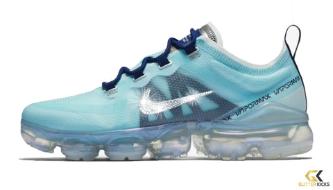Women's Nike Air VaporMax 2019 + Crystals - Teal Tint/ Blue Void