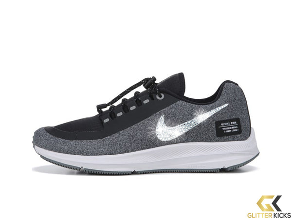 Women's Nike Zoom Winflo 5 Utility + Crystals - Black/Metallic Silver