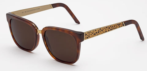 RetroSuperFuture Sunglasses People Francis Leopard