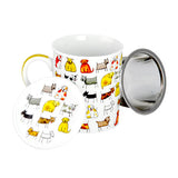 Dogs Or Cats Mug w/Infuser (8.5 oz.)