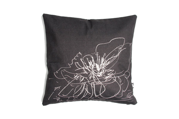 Cushion BW Cover Study for Transience II Peony 45cm