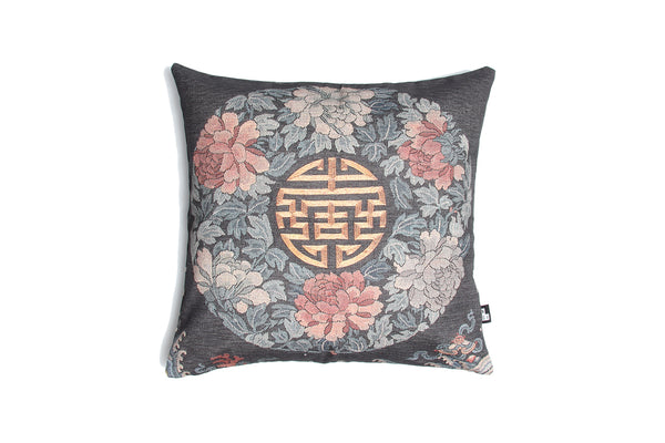 Cushion Chinese Court Lady Blue