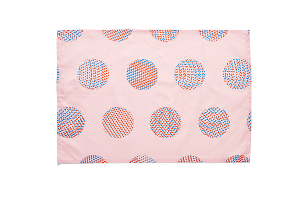 Tea Towel Pattern Pink Circle